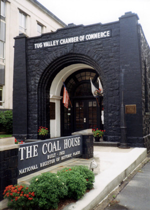 Located adjacent to the Mingo County Courthouse, the Coal House was home to the Tug Valley Chamber of Commerce. This work is licensed under the Creative Commons Attribution-ShareAlike 3.0 License.