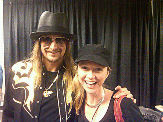 Kid Rock and Auction Central News columnist Reyne Haines. Image courtesy of Reyne Haines.