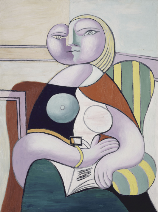 Reading, January 2, 1932, Pablo Picasso (Spanish, 1881–1973) oil on canvas, 51 3/16 x 383⁄8 in. (130 x 97.5 cm) Musée National Picasso, Paris ©2010 Estate of Pablo Picasso / Artist Rights Society (ARS), New York. Photo: Réunion des Musées Nationaux / Art Resource, NY