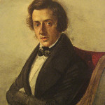 An 1835 watercolor portrait of Polish composer Frederic Chopin, painted by then-16-year-old Maria Wodzinska. Image courtesy of Wikimedia Commons.