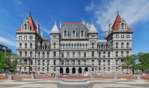 The New York State Capitol viewed from the south. Image by Matt H. Wade. This file is licensed under the Creative Commons Attribution 3.0 Unported license.