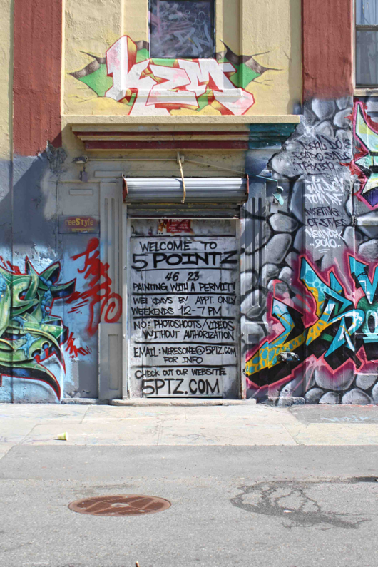 Example of graffiti art at 5Pointz. Photo by Kelsey Savage Hays.