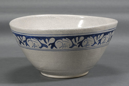 Competition can be keen for rarely seen forms, such as this large bowl (dia. 11½ inches) which sold for $1,422 at a June 2008 20th Century auction. Image courtesy Skinner Inc.