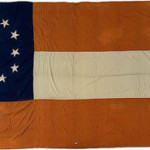 A handmade First National Confederate Flag. Image courtesy of LiveAuctioneers Archive and Cowan's Auctions.