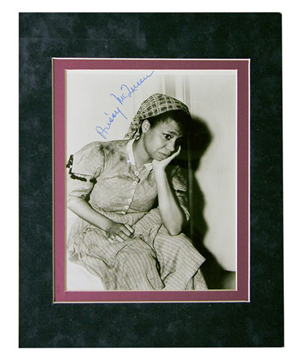 Butterfly McQueen in an autographed 'Gone With the Wind' movie still. Image courtesy of LiveAuctioneers Archive and Signature House.