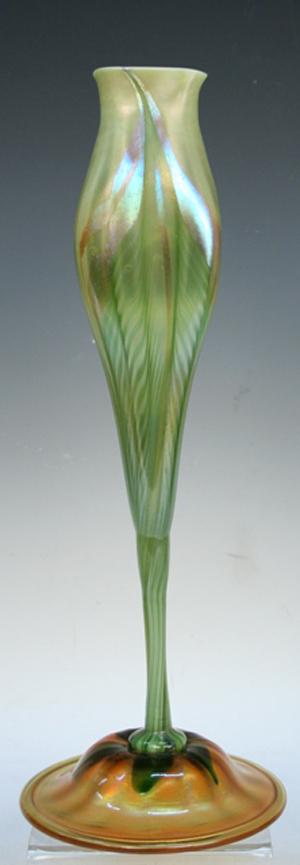 Tiffany Studios Floriform vase, image courtesy of Showplace Antique + Design Center.