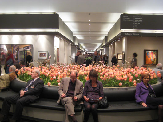 As usual, tulips were in abundance at this year's European Fine Art Fair in Maastricht from March 16 to 25. Image courtesy the European Fine Art Foundation.