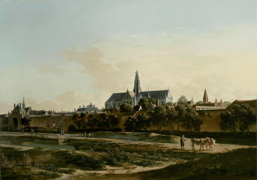 Noortman Master Paintings of Amsterdam sold this 1671 oil on oak panel by Gerrit Berckheyde (1638-1698) entitled 'View of Haarlem' for €4.5 million ($6.4 million) at the European Fine Art Fair in Maastricht in March. Image courtesy TEFAF and Noortman Master Paintings.
