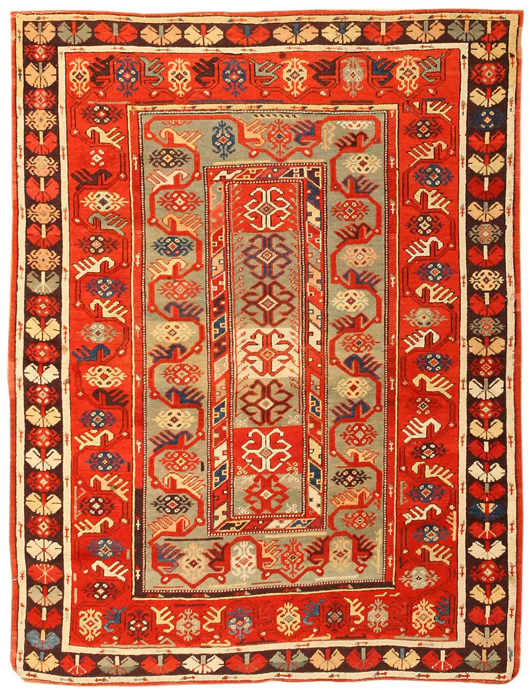 Antique Melas, Turkey, late 19th century, 3 feet 9 inches x 4 feet 11 inches. Estimate: $12,000-$18,000. Image courtesy of Nazmiyal Collection.