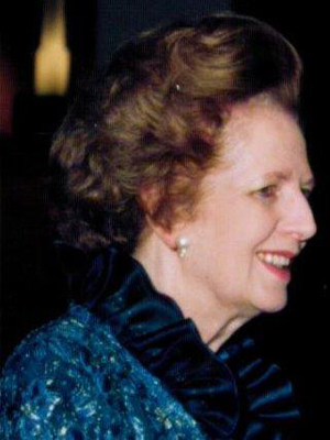 Sept. 3, 1990 photo of The Right Honourable The Baroness Margaret Thatcher, take near the end of her term as Prime Minister of the United Kingdom. Photo by Jay Galvin, licensed under the Creative Commons Attribution 2.0 Generic license.