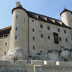 Reconstruction continues at the Bobolice castle, which King Casmir III the Great built in the 14th century. Image courtesy of Wikimedia Commons.