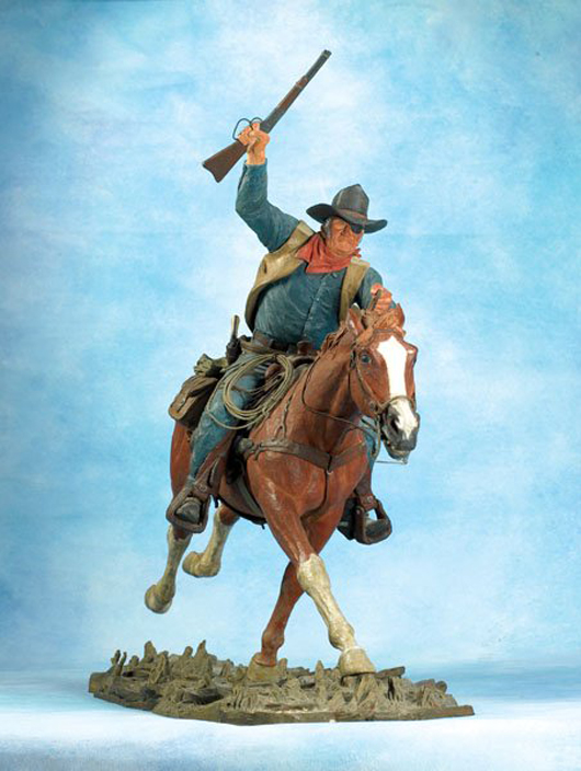 Harry Jackson (American, 1924-2011), The Marshal, cold-painted bronze, 1970, sold by High Noon Western Americana on Jan. 20, 2007 for $19,800. Image courtesy of LiveAuctioneers.com Archive and High Noon Western Americana.