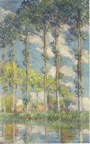 Claude Monet (French, 1840-1926), Les Peupliers, oil on canvas, 1891. Estimate $20 million to $30 million. Courtesy Christie's Images Ltd. 2011.