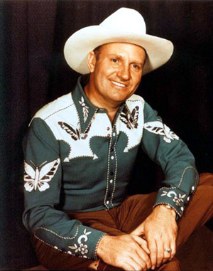 """America's beloved """"Singing Cowboy"""" Gene Autry in a digitized version of a photo sourced through the California Masons. Photographer unknown. Fair use of a low-resolution, unique historic image."""