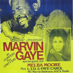 Marvin Gaye and Melba Moore headlined the 1977 Unity Day concert in Oakland, Calif. Image courtesy of LiveAuctioneers Archive and Clars Auction Gallery.