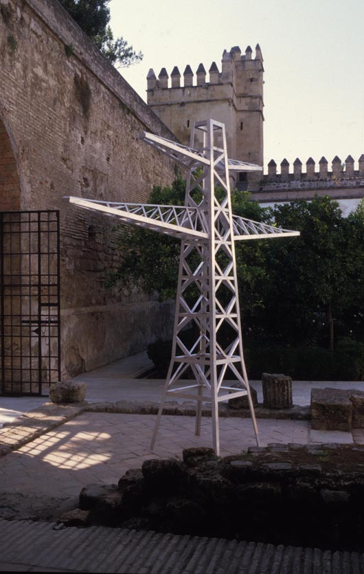 'Entre Patios y Claustros,' Jonathan Wright large-scale installation shown at Alcazar   de los Reyes Cristianos, Cordoba, Spain. Image courtesy of Jonathan Wright.