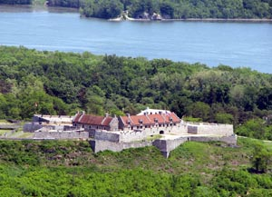View of Fort Ticonderoga from Mount Defiance. Image courtesy of Wikimedia Commons.