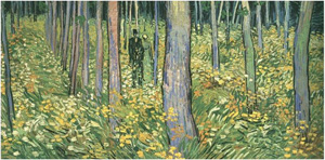 Visitors to the Cincinnati Art Museum can get a firsthand view of the restoration of van Gogh's 'Undergrowth with Two Figures.' Image courtesy of Wikimedia Commons.
