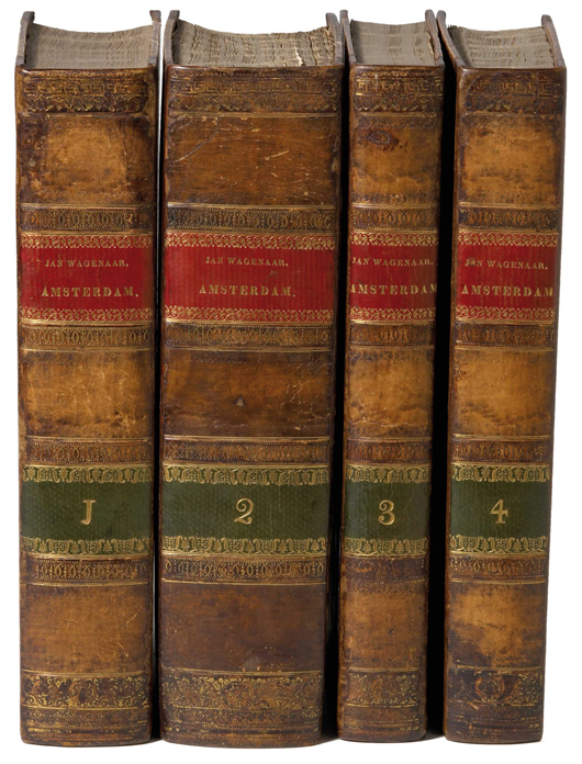 Jan Wagenaar, Amsterdam, 1760-1788, four volumes, beautifully illustrated first edition. Estimate: 50,000 euros - 75,000 euros. Image courtesy of Adams Amsterdam Auctions.