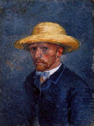 Long thought to be a self-portrait by Vincent van Gogh, this oil on pasteboard work depicts the artist's younger brother Theo. Image courtesy of Wikimedia Commons.