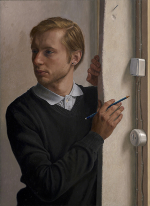 Distracted, Wim Heldens (Dutch), oil on canvas, 750mm x 550mm, first prize winner in the BP Portrait Award 2011 competition. Image courtesy of The National Portrait Gallery, London.