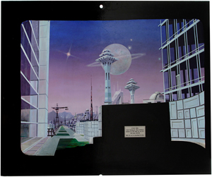 Star Trek matte painting featured in the first season of the original series in episode 'Menagerie, Part I. Estimate: $8,000-$12,000. Image courtesy of Propworx.