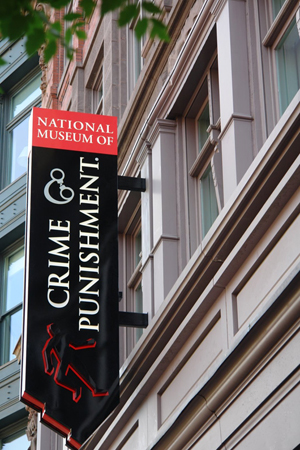 National Museum of Crime & Punishment is located at 575 Seventh St. NW in the Penn Quarter neighborhood of Washington, D.C. Image courtesy of Wikimedia Commons.