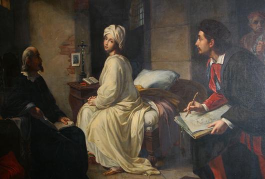 Achille Leonardi 'Beatrice de Cenci and Guido,' oil on canvas, 51 x 66 inches. Estimate: $3,000-$5,000. Image courtesy of Leighton Galleries.