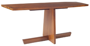George Nakashima (Japanese-American, 1905-1990) Minguren I table, original owner collection (est. $10,000-$20,000). Image courtesy of Leland Little Auction & Estate Sales Ltd.