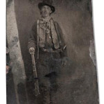 Billy the Kid tintype, only known photographic image of the Old West outlaw, auctioned for more than $2.6 million on June 25, 2011. Image courtesy of LiveAuctioneers.com and Brian Lebel's Old West Show & Auction.
