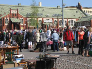 Visitors to Helsinki can attend a flea market every day, May through September. Photo Credit: Marko Kareinen.