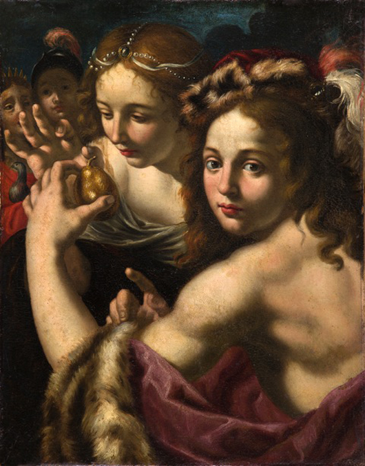 Alessandro Rosi (1628-1669), 'The Judgement of Paris,' oil on canvas, on display with Piacenti Art Gallery at 8 Duke St., St James's during Master Paintings Week, July1-8. Image courtesy Piacenti Art Gallery.
