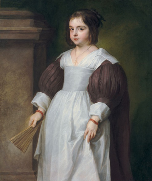 This characterful portrait of a young woman, by Sir Anthony van Dyck, formerly in the Rothschild Collection, was rediscovered by London historical portrait specialist Philip Mould. Image permission and copyright Philip Mould Ltd.