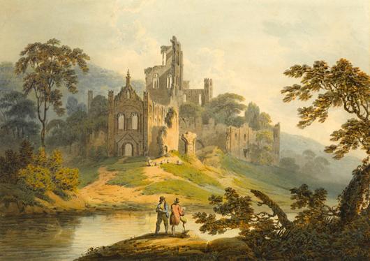Francis Nicholson's watercolor of Kirkstall Abbey near Leeds, which Guy Peppiatt will be taking to this summer's London fine art fairs. Image courtesy Guy Peppiatt.
