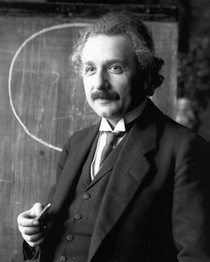 Albert Einstein (German/American, 1879-1955) during a lecture in Vienna in 1921.