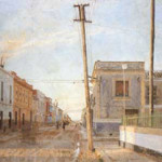 Antonio Lopez Garcia (Spanish, b. 1936-), Street to Santa Rita, 1961, fair use of low-resolution copyrighted image, used to illustrate the photo-realistic quality of the artist's work.