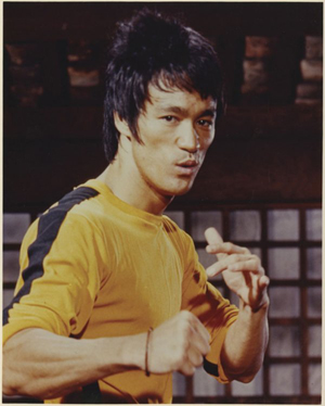 Bruce Lee in a movie still from the 1978 film 'Game of Death.' Image courtesy of LiveAuctioneers Archive and Profiles in History.