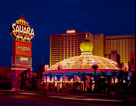 The lights of the Sahara went out last month when the legendary hotel-casino closed after 59 years. This file is licensed under the Creative Commons Attribution 2.0 Generic license.