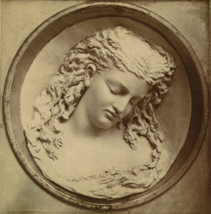 Caroline Shawk Brooks' 1876 'Dreaming Iolanthe' is credited with igniting popular interest in butter sculpting as a public art form. Image courtesy of Wikimedia Commons.