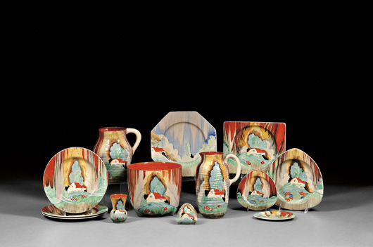 , Ceramics Collector: Clarice Cliff blooms in summer sale at Skinner