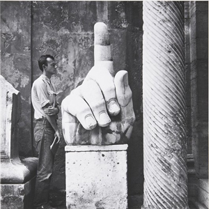 Cy (Twombly) + Relics - Rome #5, a 1952 gelatin silver print by Robert Rauschenberg. Auctioned by Phillips de Pury & Co. on Nov. 14, 2009. Image courtesy of LiveAuctioneers.com archive and Phillips de Pury.