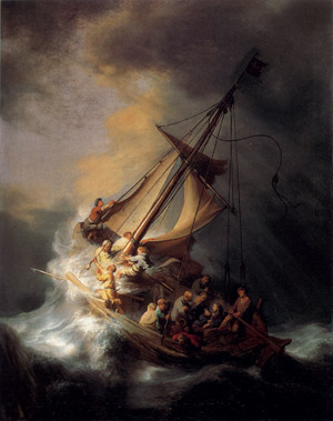 Rembrandt's 'The Storm on the Sea of Galilee' was stolen from the Isabella Stewart Gardner Museum in Boston on March 18, 1990. Its whereabouts remains unknown. Image courtesy of Wikimedia Commons.
