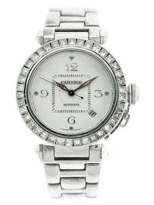 Pasha de Cartier watch. Estimate: $16,000-$20,000. Image courtesy of Morton Kuehnert.