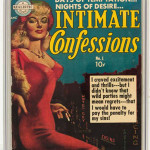 At the 2006 Comic Con illustrator Everett Raymond Kinstler signed the case holding a copy of his 1951 'Realistic Comics.' Image courtesy of LiveAuctioneers Archive and Heritage Auctions.