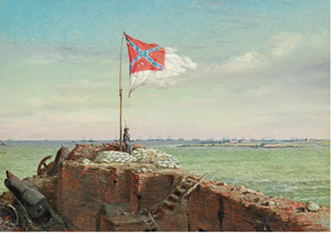 The Flag of Sumter by Conrad Wise Chapman (American, 1842-1910). Image courtesy of The Museum of the Confederacy, Richmond, Va.