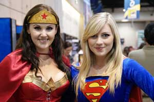 It's not unusual to see attendees like these two from 2010 at the convention or around town in costume. Photo by Michael A. Solof.