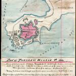Pen and ink hand-drawn map of Fort Monroe in Virginia, 1862. Image courtesy of Wikimedia Comons.