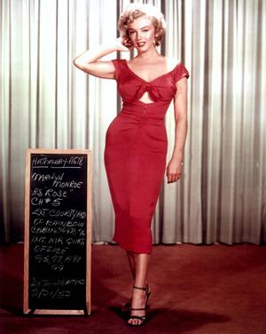 Marilyn Monroe (1926-1962) in a 1952 studio publicity portrait for the 20th Century Fox film 'Niagara.'