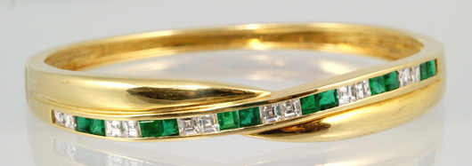 Gold, emerald and diamond bracelet. Image courtesy of William H. Bunch.