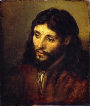 Head of Christ, c. 1648-1650 Rembrandt Harmensz. van Rijn Oil on oak panel 9 13/16 x 8 7/16 inches (25 x 21.5 cm) Staatliche Museen zu Berlin, Gemäldegalerie, GERMANY